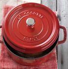 STAUB Enamel Cast Iron Round 4 Qt Dutch Oven Colette France Cherry/Mint NIB $399