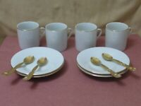 Espresso Demitasse Cup and Saucer Set of 4 with Spoons