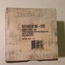 New WR NO. 6590-172 Steveco 90-172 3 pole 277Vac 208/240Vac RBM TYPE 154