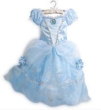 Kids Girl Cinderella princess Cosplay Costume Cartoon Halloween Party Dress 2-8Y