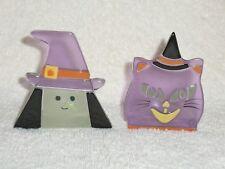 Partylite Witch & Cat Tealight Pair - Halloween!