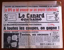 Le Canard Enchaîné 27/8/1986; Financements Politiques tournent à la Farce