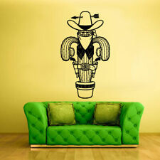 Wall Decal Vinyl Sticker Decals Cactus Cowboy Guns Hat Funny (Z1551)