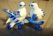 Blue/White Porcelain Love Birds See pic for mesurments