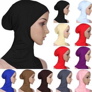 Muslim Scarf Cotton Inner Ninja Cap Hijab Women Men Headwear Chin Cover Hat