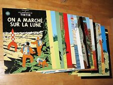 19 TINTIN POSTER SET GROSS - TIM & STRUPPI PLAKATE / 70 x 50 cm NEU MINT TOP RAR