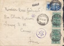 Italy East Africa 1942 Hitler Mussolini reg express censor cover