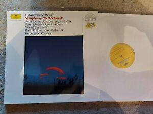 BEETHOVEN SYMPHONY No 9 CHORAL  BPO  KARAJAN 415832  LP