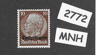 MNH overprint stamp  1940 Hindenburg PF10 German occupation WWII Lorraine France