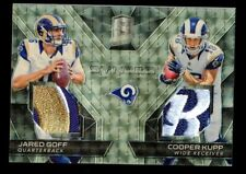 1/1 JARED GOFF & COOPER KUPP 2017 PANINI SPECTRA SYNCED GOLD SUPERFRACTOR RC