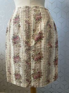 Vintage LAURA ASHLEY 1980's Cottagecore Floral Corduroy Skirt UK Size 12