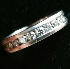 Very Heavy 7.5g Platinum Diamond Colour G VS2 Eternity Ring with £1150 receipt