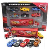 Hot Disney Pixar Car No95 Mack McQueen Racer's Truck+6pcs Cars Set Toy Gift+Box
