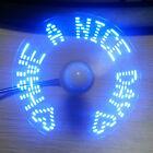 lumière del Montre Ventilateur MINI USB alimenté REFROIDISSEMENT CLIGNOTANT VRAI