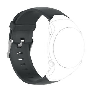 Silicone Wrist Strap Band & Metal Buckle For   Approach S3 Watch Black