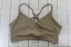 ALO Lavish Sports Bra - Women's Size M - Gravel Glossy