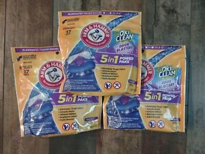 Arm & Hammer + Oxi Clean LAUNDRY DETERGENT 5-IN-1 Power Pak • 51 Count NEW!!!