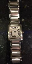 Stunning Ladies Cartier Tank Francaise 20mm Stainless Swiss Quartz Watch 2384
