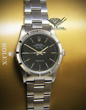 482655a182e Rolex Air-King Stainless Steel Black Dial Mens Automatic Watch N 14010