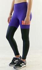Without Walls Medium Yoga Purple Colorblock Slick Leggings Urban Outfitters New