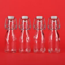 12 leere Glasflaschen 100 ml  mit Bügelverschluss kleine Bügel-Flasche 0,1 liter