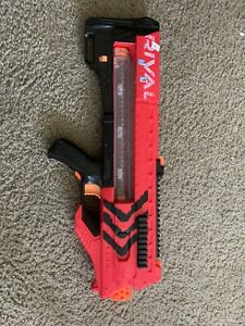 Rival Zeus MXV-1200 Soft Ball Blaster Gun Red Motorized No Ammo TESTED