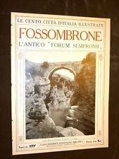 Fossombrone, antico Forum Sempronii - Le Cento Città d'Italia illustrate
