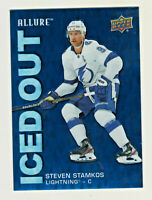 2019-20 Upper Deck Allure ICED OUT #IO-SS STEVEN STAMKOS Tampa Bay Lightning