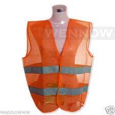 XXXL Adult Orange Fluorescent Safety Vest w/ Hook & loop closure