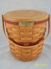 Longaberger 1994 National Sales Award Basket w Lid Signed By Dave