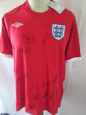 SQUAD signé angleterre away shirt 2008-2009 signé football shirt COA Bnwt 34410
