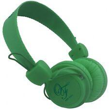 Original Fake 00 Green Cuffia Stereo Colore Verde - Leggera con Microfono Nuova