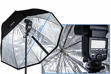 90cm Octagon Folding Umbrella Indirect Reflective Silver Octa Diffuser Softbox