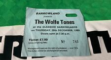 More details for celtic irish night ticket - the wolfe tones - barrowlands, glasgow 28.12.1989
