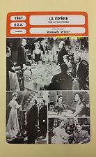 US Drama The Little Foxes Bette Davis Herbert Marshall French Film Trade Card