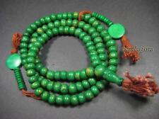 M3525 TIBET Buddha 108 beads bone handmade PRAYER Tassel Mala Necklace Bracelet