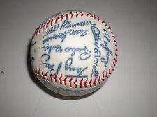 Vtg 1973 Cincinnati Reds Team Facsimile 26 Autographed Baseball w/ Verlon Walker