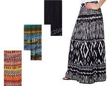 NWT Womens CHAUDRY Gypsy Peasant Long Skirt Bila Print Orange Red S Small