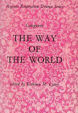 CONGREVE - THE WAY OF THE WORLD - EDWARD ARNOLD LTD