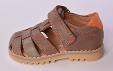 Startrite Climb Boys Brown Leather Closed Toe Sandals UK 8.5 F EU 26 RRP £36.00