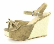 Strappy, Ankle Straps Wedge Canvas Heels for Women