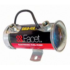 Facet 12v Silver Top Road cylindrical Electronic Fuel Pump 4 - 5.5 psi / 150 bhp