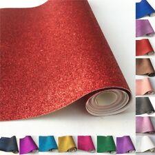 25x135cm Roll Fine Glitter Fabric Sparkle Leather Vinyl Craft Bows Sheet Zaione