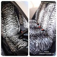 Ford Focus C-MAX  - GREY TIGER Faux Fur Furry Car Seat Covers - Full Set
