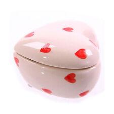 Boîte Décorative En Forme De Coeur Blanc Et Rouge