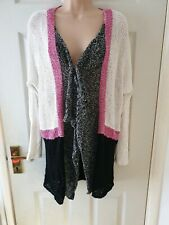 Curio New York Womens Linen Waterfall Cardigan Size Xl