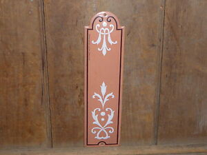 RARE OLD VINTAGE ANTIQUE ART NOUVEAU PORCELAIN DOOR PUSH PLATE FRENCH COUNTRY