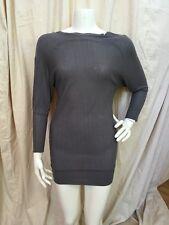 Kookai France Dark Gray Viscose Knit Dolman Sleeve Button Back Sweater Dress 1