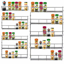 VonShef 1-6 Tier Spice Herb Rack Jar / Bottle Storage for Kitchen Cupboard Door