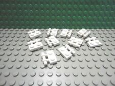 Lego 10 White 1x2 plate with side handle NEW